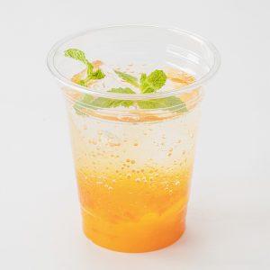 マンゴーオレンジのゼリーソーダ